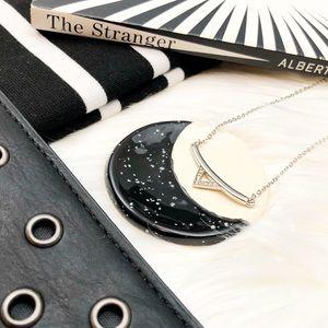 Rebecca Minkoff Silver Pave Triangle Necklace